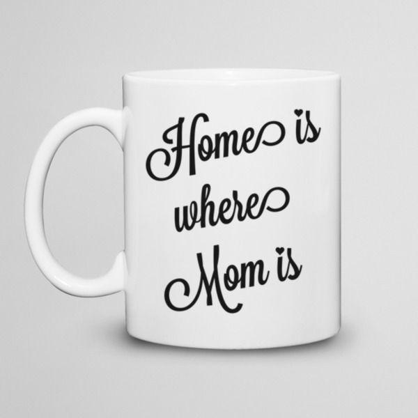Home is where Mom is - kubek 330ml w artiglo na DaWanda.com