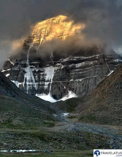 Sunrise at Mount Kailash, holy mountain in western Tibet