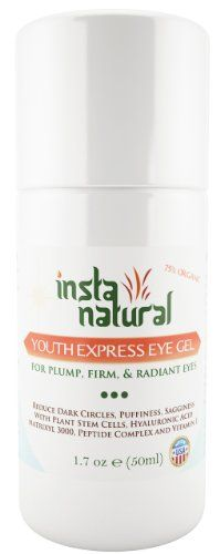 Eye Cream For Dark Circles, Puffiness, Wrinkles & Bags 1.7 OZ - Best Under Eye Gel Treatment Solution For Crows Feet, Dry Skin, Fine Lines, Eye Bags & Sagging Eyes | By InstaNatural - With Plant Stem Cells, Hyaluronic Acid, Matrixyl 3000, Cucumber, Peptide Complex, Cucumber, Aloe, MSM & More! 100 DAYS 100% MONEY BACK GUARANTEE! InstaNatural http://www.amazon.com/dp/B00KCFAZTE/ref=cm_sw_r_pi_dp_2saOtb0ZNZEEHDV3