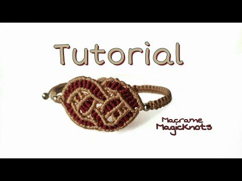 Macrame Celtic Love Knot Bracelet Tutorial ♥ Noeud d'amour Celtique Macramé ♥ - YouTube