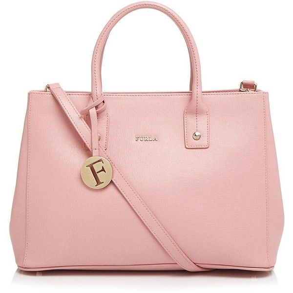 Furla Tote ($398) ❤ liked on Polyvore featuring bags, handbags, tote bags, winter rose, furla tote, pink tote bag, furla handbags, over the shoulder purse e furla