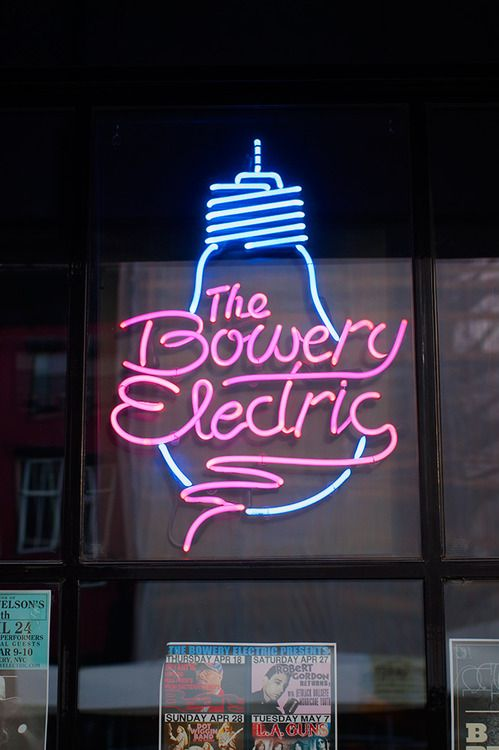 The Bowery Electric - Street Typography