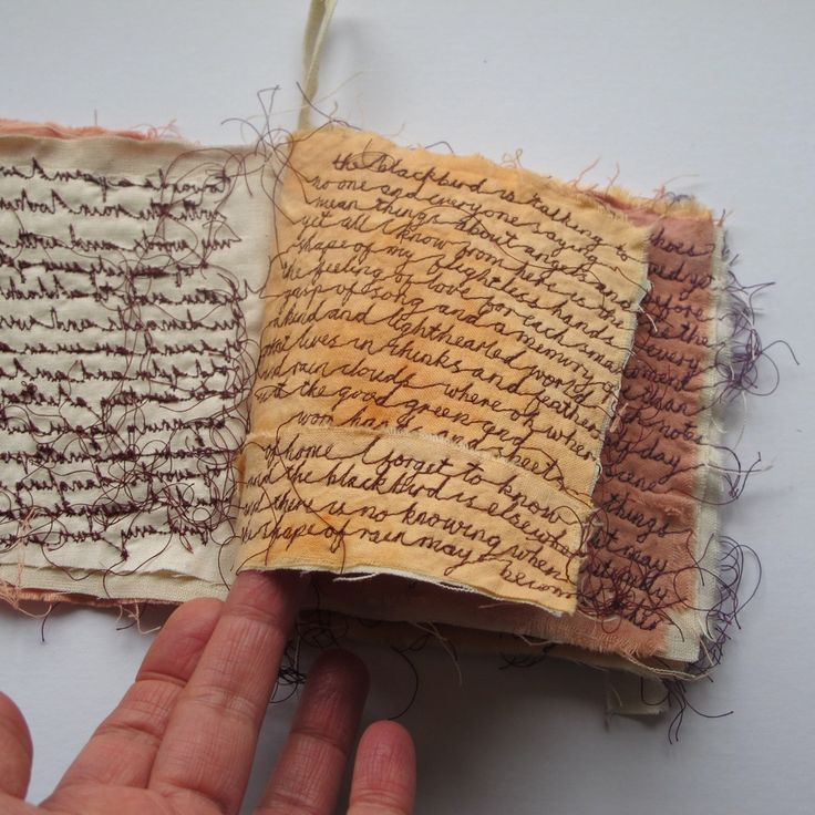 Image of *RESERVED* toward a poem - a textile book - embroidery artwork