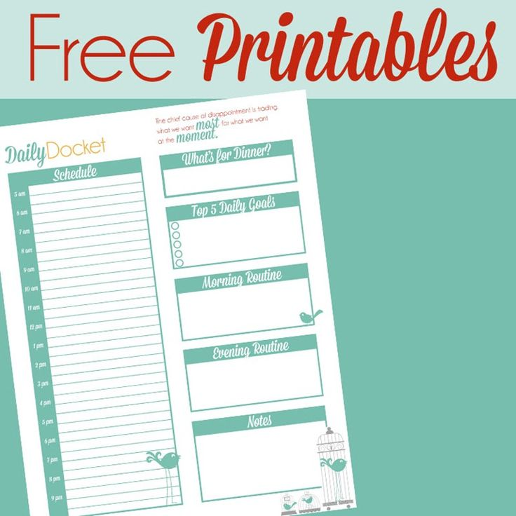 Free printable planning pages :) Because we all know I love my planning!