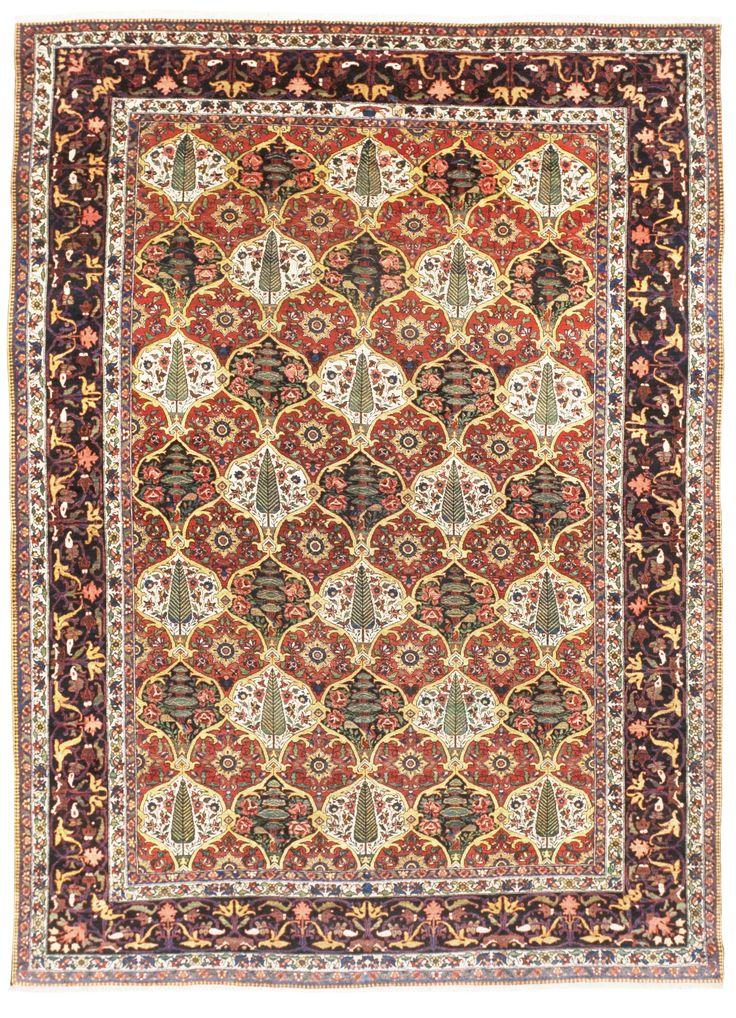 """Antique Persian Bakhtiar Rug - 10'4""""x 14'1"""""""