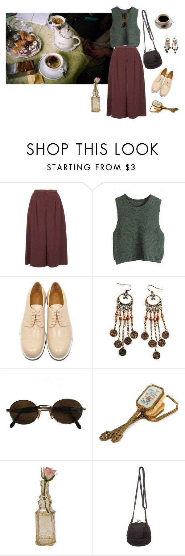 """Té para 3"" by ballrooms-of-mars ❤ liked on Polyvore featuring Topshop, WithChic, Jil Sander, Moschino, Cultural Intrigue and Judith Leiber"