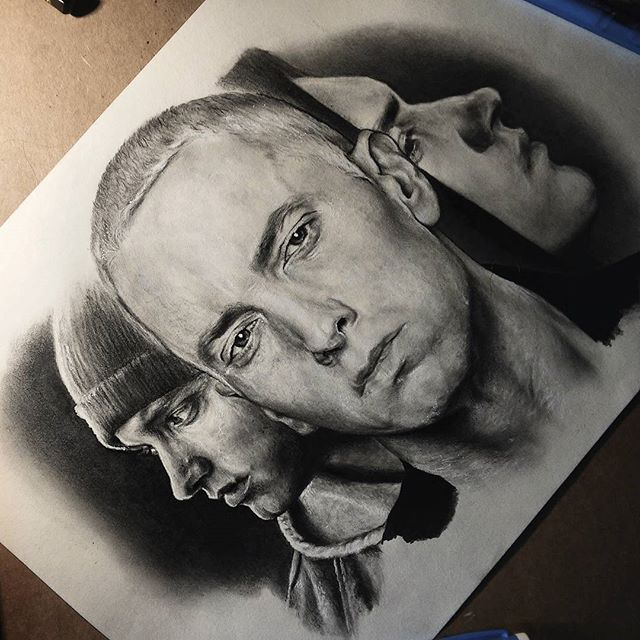 Two or three hours for this drawing and then it'll be done.☝ #art#hiphop#rap#artist#artwork#design#portrait#shoutout#tattoo#tattoos#sketch#sketchbook#creative#work#picture#photo#explore#slovenia#pencil#paper#talent#shoutout#swagg#model#photograph#instaart#tattooart#eminem#cool#hollywood