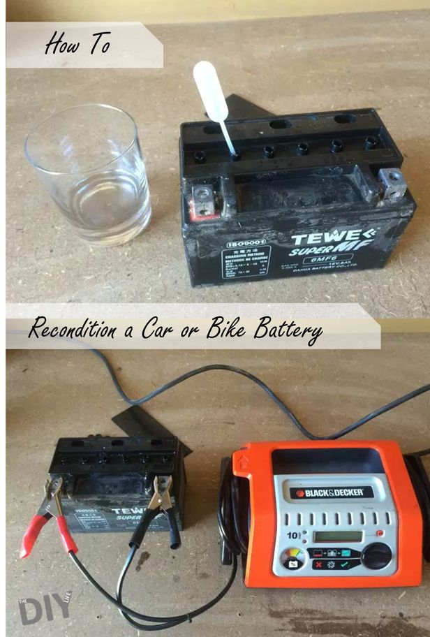 Save money by reconditioning your car and motorbike batteries instead of throwing them out