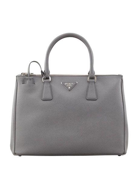 Prada - Saffiano Lux Tote Bag, Gray