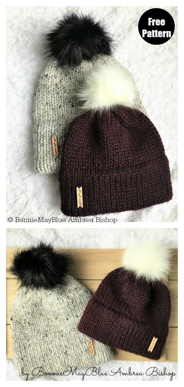 Simple Double Brim Beanie Hat Free Knitting Pattern Knit Beanie Pattern Beanie Knitting Patterns Free Double Knitting Patterns