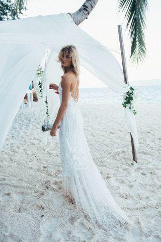 Pre-Order // Casablanca Lace Halter Gown