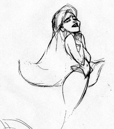 Ariel Sketch Glen Keane Glen keane ariel