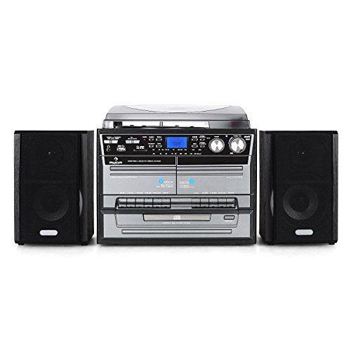 Minicandena con tocadiscos Hi-fi de Auna. Con radio, reproductor de vinilos, CD,cassette, compatible con MP3 y doble pletina para cassetes. Esta minicadena Hi-fi de Auna reúne tanto formatos de música tradicionalescomo modernos, todo ello en un aparato fácil de usar. Además de radio, toc... http://altavocespara.com/coche/auna/auna-tc-386-minicadena-con-tocadiscos-sistema-de-audio-estereo-cassette-2-altavoces-cd-usb-sd-mp3-funcion-grabacion-funcion-x-bass-acabado-de-madera