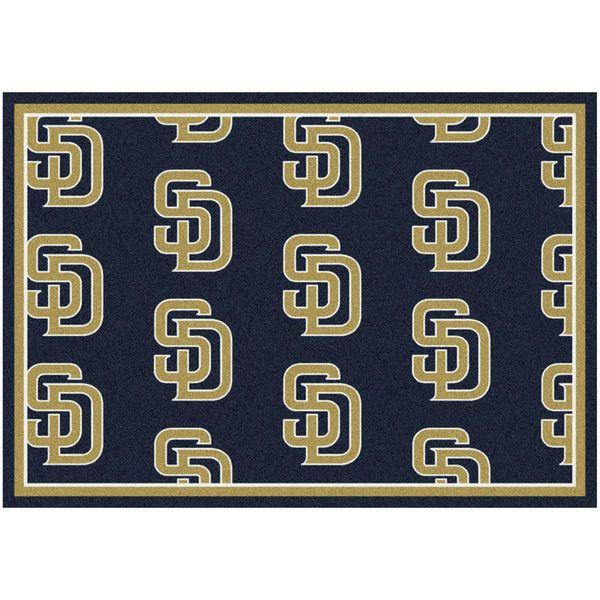 "San Diego Padres 10'9"" x 13'2"" Repeating Rug - $859.00"