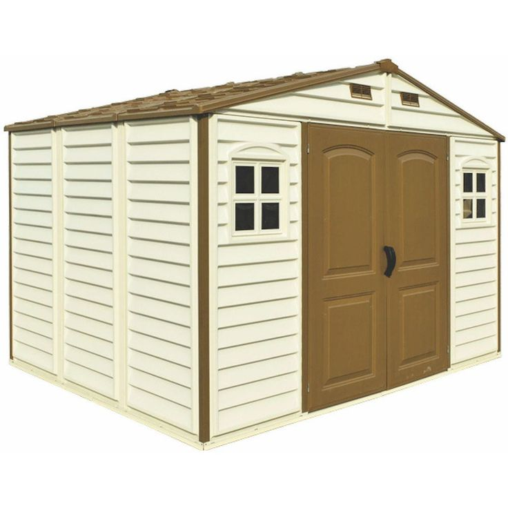 Woodside 10x8 Vinyl Storage Shed With Foundation