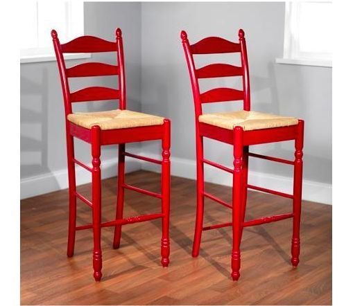 Counter Height Bar Stools 30 Quot Wood Red Kitchen Dining