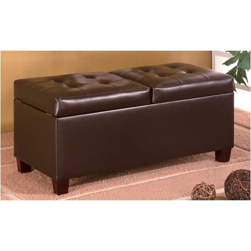 Wildon Home Upholstered Storage Bedroom Bench: Wildon Home Hamilton Storage Ottoman In Brown