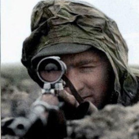 Ww2 German sniper this is a cool photo in general #ww2 #german #nazi #sniper