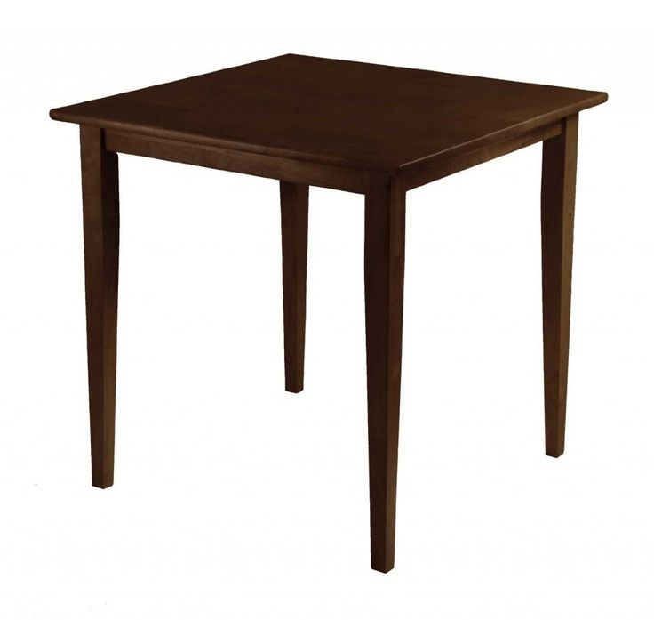 29.5 Inches Solid Wood Square Dining Table With Walnut Color 1024x970 5  Solid Wood Square Table