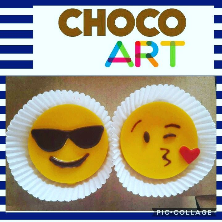 Emojis en chocolate