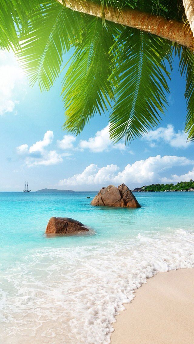 Need A New Wallpaper Like This One For Your Iphone Ipod Or Ipad Download This Ios App Its Super Awesome Beach Wallpaper Beautiful Landscapes Beach Photos
