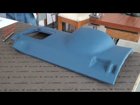 LEATHER UPHOLSTERY- A Plastic Piece Wrapped in Leather - YouTube