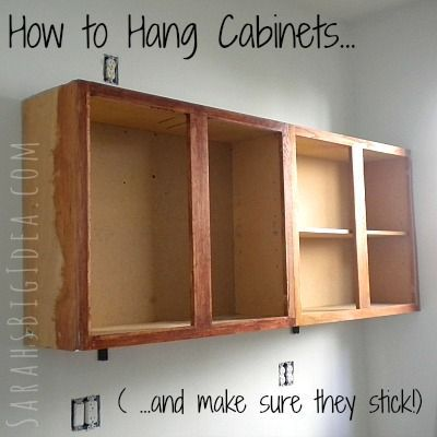 How to Hang Cabinets (and make sure they stick!) | HOME ...