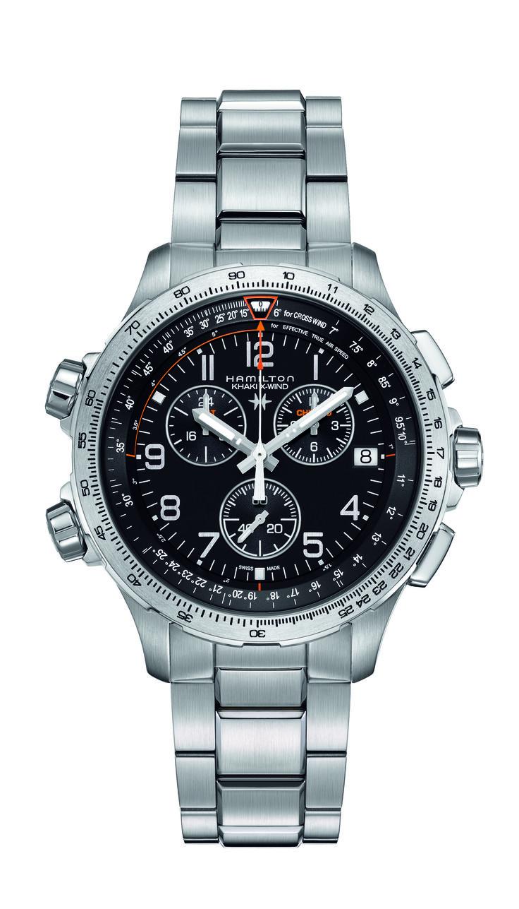 HAMILTON KHAKI AVIATION X-WIND CHRONO QUARTZ GMT H77912135