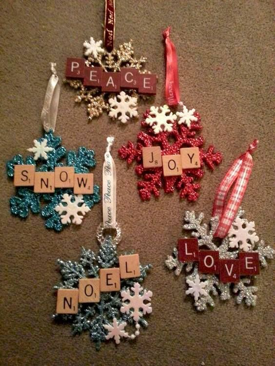 Scrabble ornaments - Scrabble Ornaments Projects To Try Pinterest Christmas