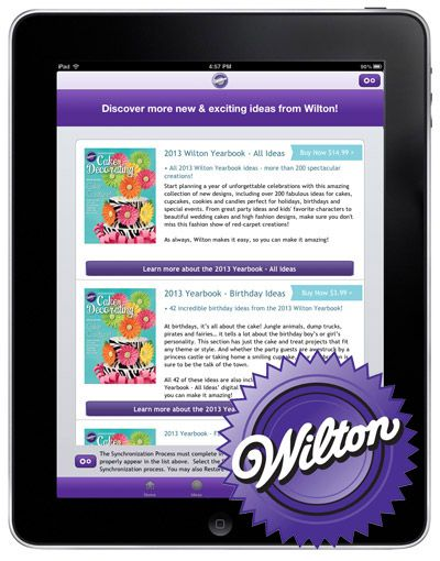 Wilton Cake Ideas & More iPad/iPhone App! #wiltoncontest