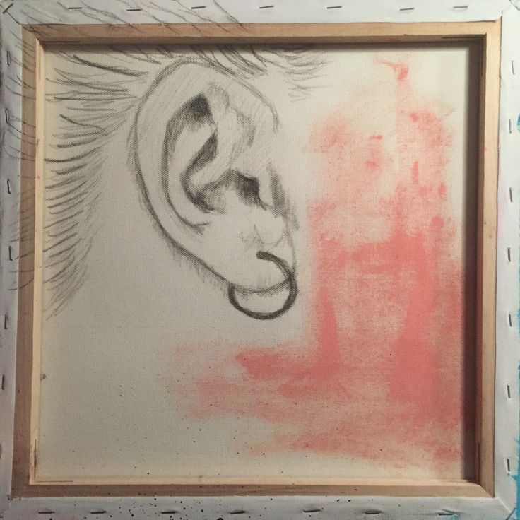 """""""I Can't heat you - ears on The wrong side - 50x50 cm."""