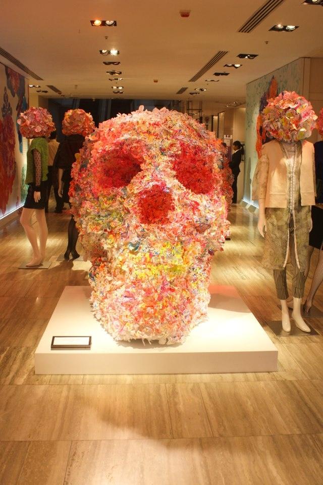 Skull installation by Jacky Tsai