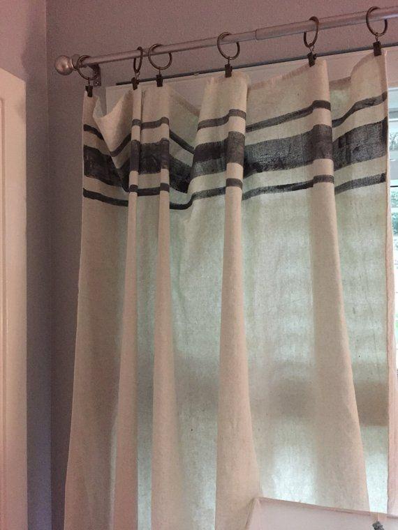 grain sack farmhouse curtains set farmhouse curtains feed etsy farmhouse style curtains on farmhouse kitchen curtains id=60087