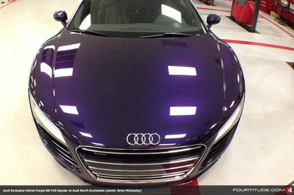Audi Exclusive Velvet Purple Metallic R8 V10 Spyder Photo