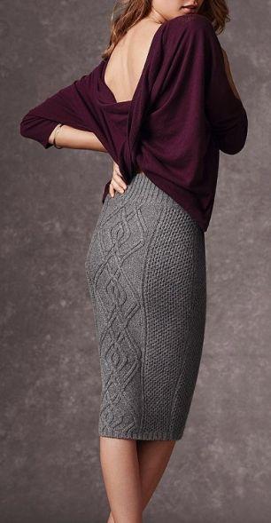 Knit pencil skirt-knitspiration