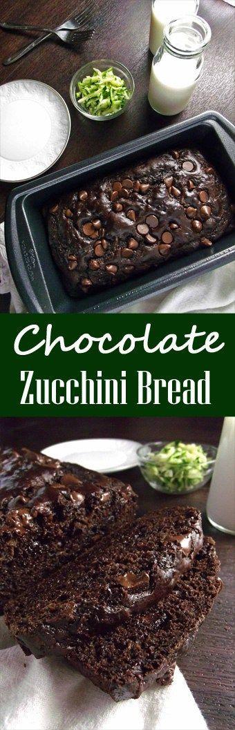 Healthy Chocolate Zucchini Bread | Garden Recipes | Chocolate Chip Bread | Healthy Breads | Sweet Breads