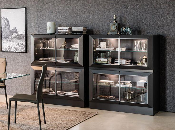 Hilton sideboard showcase 2 door by cattelan italia for Sideboard 3 00 m