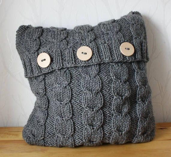 Hey, I found this really awesome Etsy listing at https://www.etsy.com/listing/548782673/grey-cable-sweater-pillow-throw-knitted