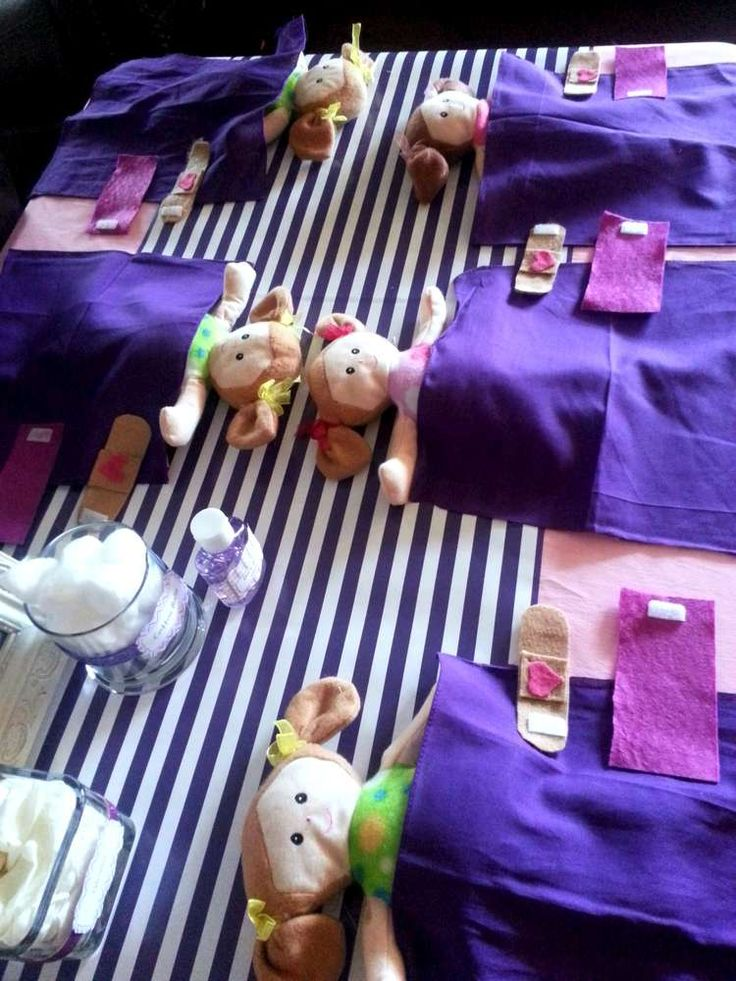 """Doc McStuffins """"Time for your check-up"""" Birthday Party! See more party planning ideas at CatchMyParty.com!"""