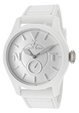 ToyWatch TTF08WH Watches,Women's Toy To Fly White Dial White Rubber, Women's ToyWatch Quartz Watches
