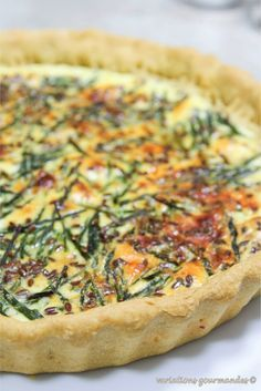 Variations Gourmandes: Tarte aux asperges sauvages, petit épeautre et huile d'olive
