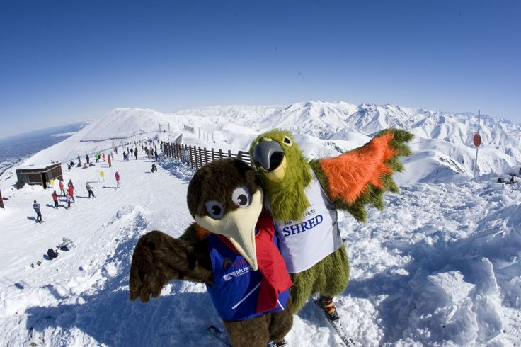 NL. Mascottes van Mount Hutt FR. Mascottes de Mount Hutt DE. Maskottchen des Mount hutt EN. Mascots of Mount Hutt