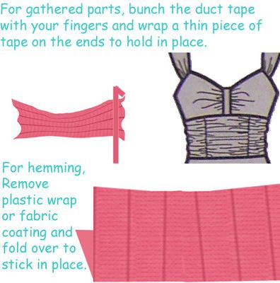 How To Duct Tape Dress
