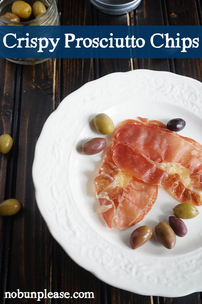 Check out Crispy Prosciutto Chips. It's so easy to make ...