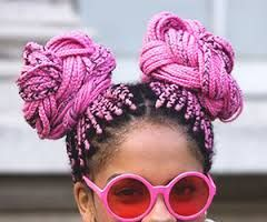 Image result for pink box braids