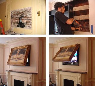 hide your flat screen tv when the tvcoverup is closed only your framed art is visible you can use any art or mirror including your own