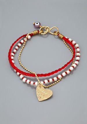 MERCEDES SALAZAR Multi Strand Mini Corazon Bracelet