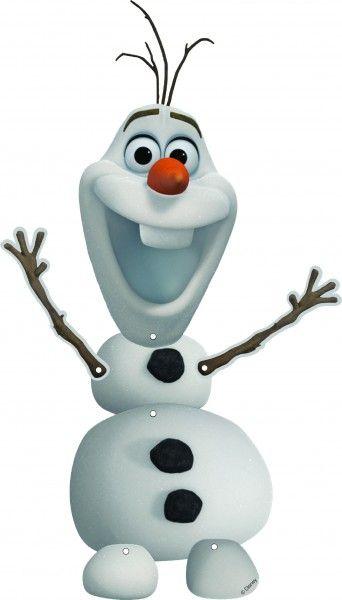 Für die Frozen Party Deko, hol dir den lustigen Schneemann Olaf als Pappschild für die Wand. Jetzt im Online Shop bestellen.