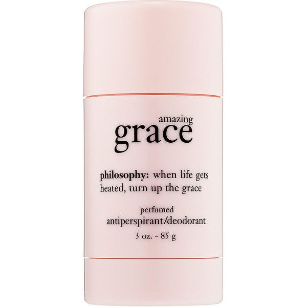philosophy Amazing Grace Perfumed Déodorant ($18) ❤ liked on Polyvore featuring beauty products, bath & body products, fillers, beauty, makeup, pink fillers, philosophy perfume, pink flower perfume, pink perfume and philosophy beauty products