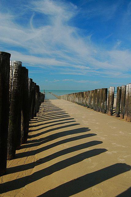 Domburg beach in Zeeland, Netherlands